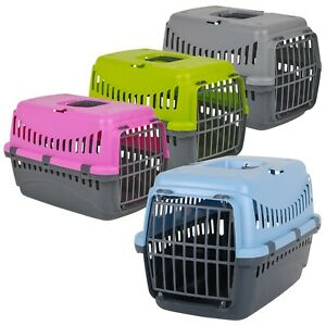 Pet Dog Puppy Cat Carrier Basket Bag Cage Portable Travel Kennel Box Vet W/Door