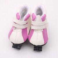 A Pair of Purple Roller Skates Shoes for 18 inch AG American Doll Doll Clothes