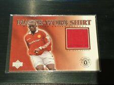 2002 Upper Deck Manchester United Legends Dwight Yorke Game Worn Shirt
