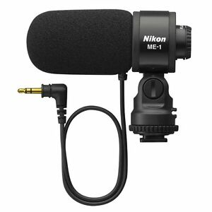 New Nikon Stereo Microphone ME-1 with Wind Screen and Soft Case from Japan