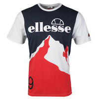 New Ellesse Men's T Shirt White Print Cervina Small