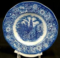 STAFFORDSHIRE Liberty Blue Fine China, Old North Church Soup Bowl, Pre Owned