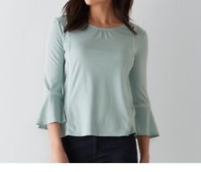 Sonoma Woman PS Tee Shirt Scoop Neck Flared Top Blue Msrp $36