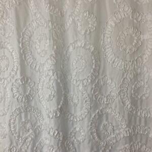 Lush Decor Keila Shower Curtain White with a Ruffled Ribbon Pattern 72x72