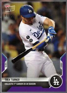 2021 Topps Now PURPLE Parallel #718 Trea Turner Dodgers Baseball Card Ser 05/25