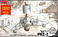 Roden 008 - 1/72 - PKZ-2  Austro-Hungarian helicopter 1918 WWI plasticmodel kit