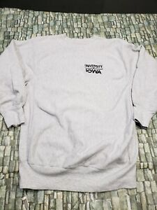 Champion Reverse Weave University Of Iowa Gray Sweater Sz XXL