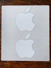 APPLE Logo Decals 5x2 Genuine OEM iPhone iPad MacBook Authentic White Sticker
