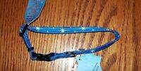 NEW Holiday Blue with White Stars Adjustable Dog Collar (Pick Size)