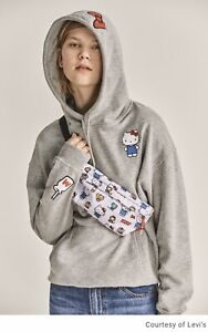 LEVIS x UNBASIC HELLO KITTY WITH PATCH Women's Hoodie Jacket Smoke Gray