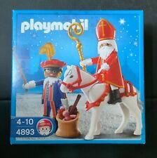 4893 St. Nikolaus und Knecht Ruprecht mit Pferd - Sinterklaas met zwarte Piet -