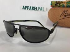 New Maui Jim LAHAINALUNA Polarized Sunglasses 232-02 Matte Black/Gray Aviator