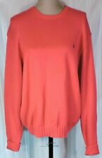 Women's Ralph Lauren Polo Knit Sweater HOT Pink WARM Cotton Size LARGE PERFECT