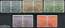 SBZ Provinz Sachsen Provinzwappen Postmeistertrennung Paare 1945 geprüft (S6814)