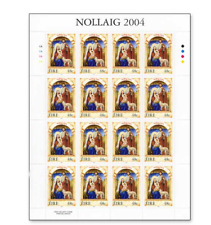 IRL0420ARK CHRISTMAS 3 FULL STAMP SHEET MNH IRELAND 2004