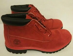 """Timberland Hommes Men's Premium 6"""" Boots Holiday Edition chukka Red MENS SIZE 11"""