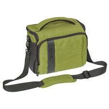 Kameratasche Schultertasche XL SLR Foto Tasche Hülle Case mit Regenschutz, grün