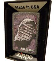ZIPPO MOON LANDING JULY 20 1969 NEIL ARMSTRONG FOOTPRINT LIGHTER MINT BOX GIFT