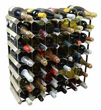 42 Bottle Traditional Wooden Wine Bottle Storage Rack - Assembled - Light Wood