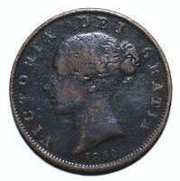 1852 UK Half 1/2 Penny - Victoria 1st portrait - Lot 1131