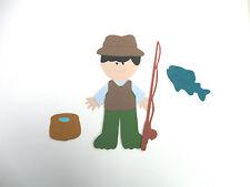 Fisherman  paper doll dress up  cardstock die cut scrapbooking