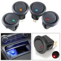 20pcs Round Rocker Switch 12V with LED Light Dot Car Auto RV Boat Toggle SPST