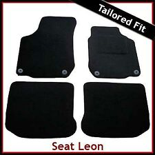 Seat Leon Mk1 1999-2005 Round Eyelets Tailored Carpet Car Floor Mats BLACK