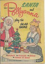 SANTA & POLLYANNA PLAY THE GLAD GAME RARE 1960 CHRISTMAS COMIC GIVEAWAY PROMO VG