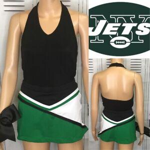 Cheerleading Uniform New York Jets Colors  Plain Set Adult S