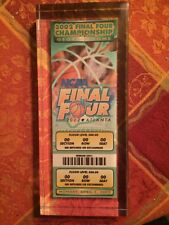 2002 NCAA Mens Final Four Replica Ticket Protected By Thick Plastic Cover