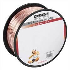 Konig OFC Speaker Loudspeaker Cable Wire 2x 2.5mm² 15m