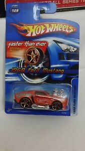 2006 Hotwheels Faster then Ever Orange 1968 Ford Mustang # 128 1/64 Scale
