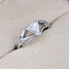 18ct White Gold Diamond Solitaire Ring Trilliant Cut 0.51ct GIA D SI2 (Trillion)