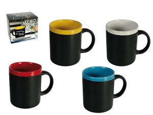 Writeable Memo Coffee Tea Mug - Ceramic Cup Teacher Gift Present Office