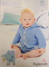 Stylecraft 9505 Knitting Pattern Bambino DK- Cardigans