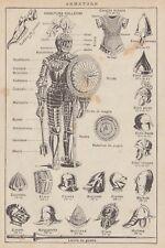 C2847 Armature - Stampa d'epoca - 1936 vintage print