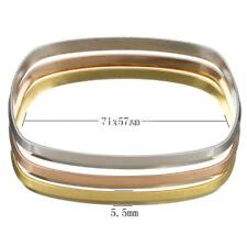 3PCS/Set Fashion Women Stainless Steel Jewelry Bracelet Charm Cuff Bangle Gifts