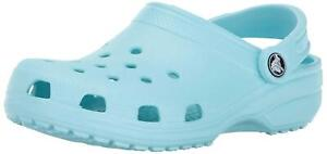 Crocs Womens Classic Closed Toe SlingBack Clogs, Ice Blue, Size 7.0