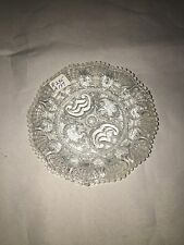 Sandwich Lacy Glass Cup Plate Shell Border R - 245 Ca. 1850