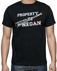 Walking Dead Property Of Negan Lucille Saviours Zombies Black Mens T Shirt