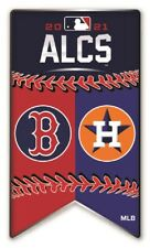 2021 MLB Alcs Houston Astros Vs Boston Rouge Sox Broche Américain League World