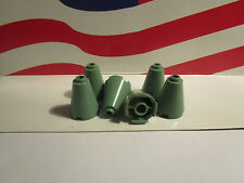 Lego HARRY POTTER SAND GREEN (6) 2x2x2 PIECE CONES FOR THE ROOF PART #3942c
