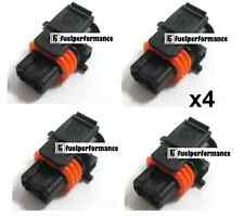 Bosch Common Rail Diesel Injector Plug Connector For Various Cars  x4