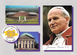 AK, Berlin, Besuch von Papst Johannes Paul II, 1996, drei Abb.,
