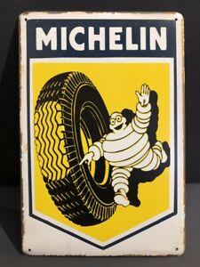 MICHELIN TYRE Vintage Retro Metal GARAGE Sign MAN CAVE WORKSHOP DECOR 30x20cm