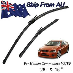 Windscreen Front Flat Wiper Blades Set For Holden Commodore VE Caprice WM Barina