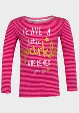MINOTI GIRLS 'LEAVE A LITTLE SPARKLE' CUTE PINK STRIPED TOP *BNWT* AGE 6M- 3 YRS