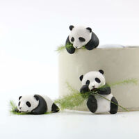 Set of 3pcs panda pandas PVC figure figures doll toy statue cartoon new