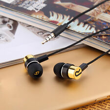 3.5mm Roping Braided Stereo Subwoofer Earphone In Ear Earbud For Phone HTC Lot