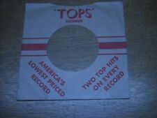45 COMPANY RECORD SLEEVES. LOT OF ONE TOPS, RED & BROWN.